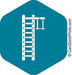 Swedish ladder icon, simple style - Swedish ladder icon. ...