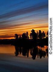 Sunset a beautiful summer evening