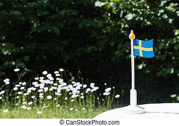 Swedish miniature flag