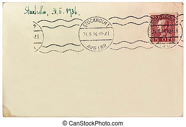 Swedish Post Card - SWEDEN - CIRCA 1936: A stamp printed by ...