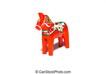 Swedish symbol - Dala horse, a swedish symbol carved of...