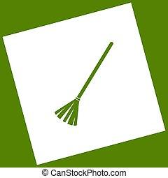 Sweeping broom sign. Vector.