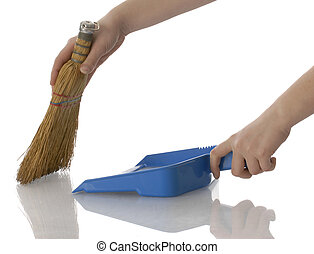 sweeping up
