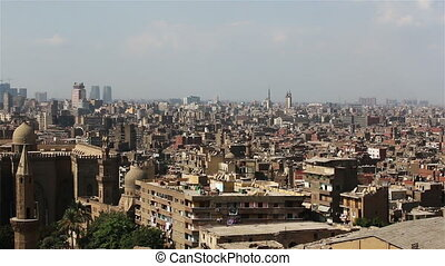 Sweeping views across Cairo from the Citadel. Mosque of...