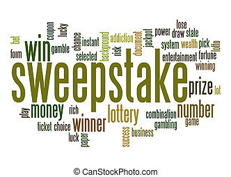Sweeptake word cloud