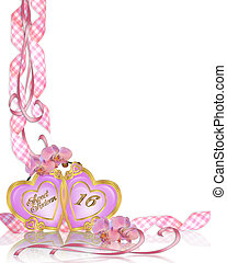 Sweet 16 Birthday invitation border