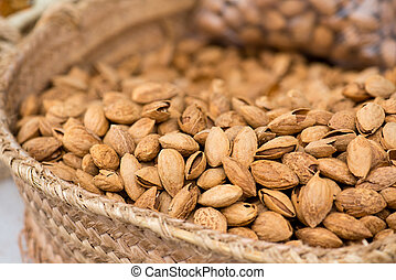 Sweet Almonds On The Market