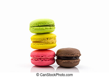 Sweet and colourful french macaron. - Sweet and colourful...