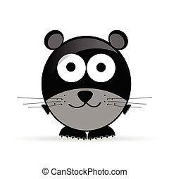 sweet and cute mouse vector illustration on white