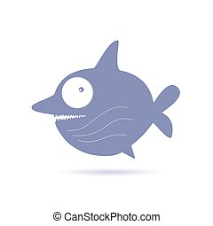sweet and funny shark vector illustration