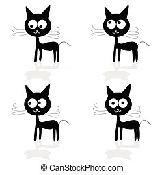 sweet and fuuny cat vector illustartion