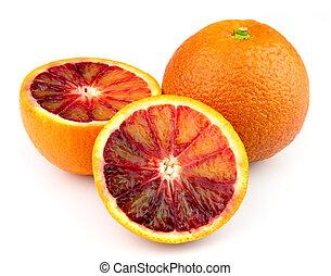 red orange closeup
