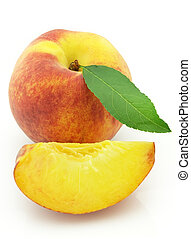 Sweet and ripe peach