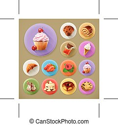 Sweet and tasty icons