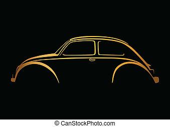 Sweet auto logo over black