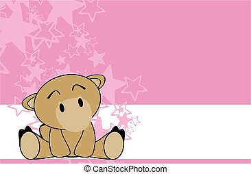 sweet baby camel cartoon background