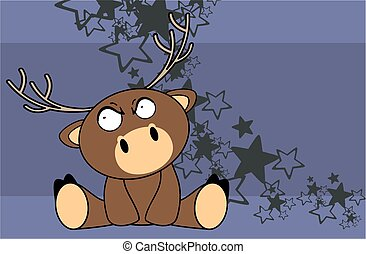sweet baby deer cartoon background