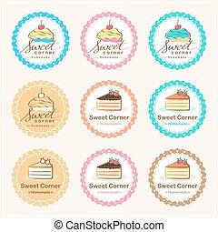 Sweet bakery badge label and logo