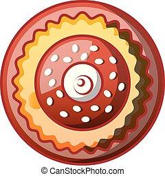Sweet bakery icon, cartoon style