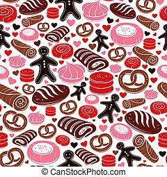 Sweet bakery seamless pattern