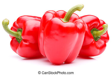 Sweet bell pepper isolated on white background cutout -...
