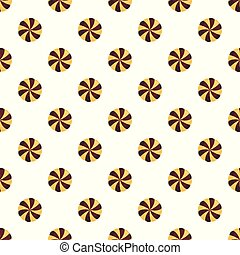 Sweet biscuit pattern seamless vector