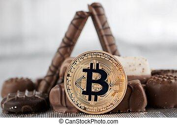 Sweet bitcoin concept