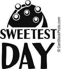 Sweet bonbon logo, simple style