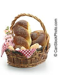 Sweet bread in the basket