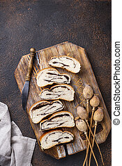 Sweet bread with poppy seeds