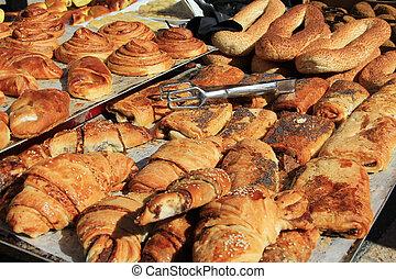 Sweet Breads in an Israeli Market