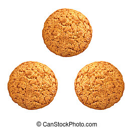 sweet brown oatmeal cookies