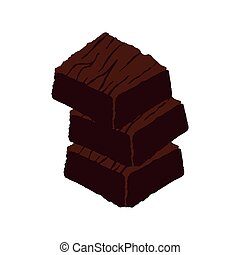 sweet brownie dessert isolated icon vector illustration...