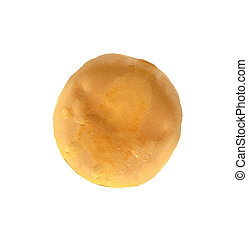 Sweet bun isolated