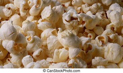 Sweet butter popcorn, close up