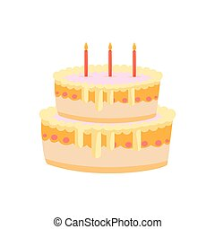 sweet cake birthday with candles