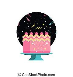 sweet cake of birthday