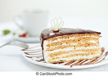 sweet cake on table