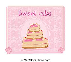 Sweet cake. Vector illustration