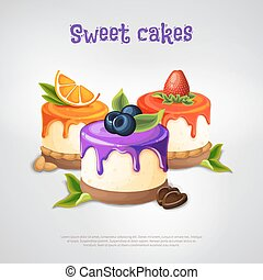 Sweet Cakes Composition