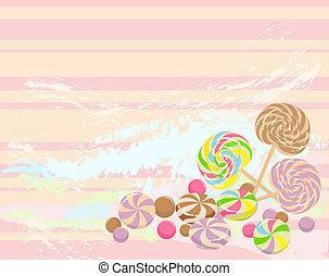 sweet candies background