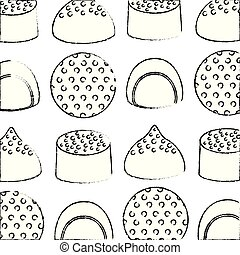 sweet candies cartoon yummy confectionery pattern