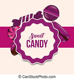 sweet candy card - sweet candy label sign lollipops caramels...