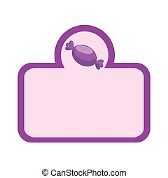 sweet candy frame icon