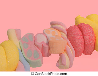 Sweet Candy Girl - Colourful Candy on a skewer sweet and...