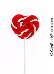 Sweet candy, heart shaped.
