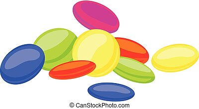 Sweet candy icon, cartoon style