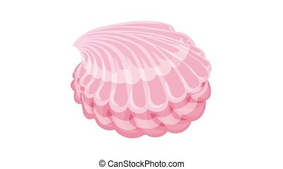 Sweet candy shell icon animation best object on white background
