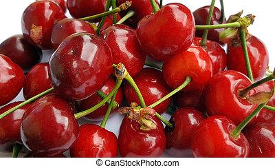 Sweet cherries background