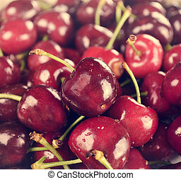 Sweet Cherries,Close Up For Background